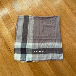Coach scarf brown and white